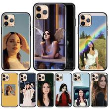 Lana Del Rey para Apple iphone 11 Pro Max X XS XR 7 7 6 6S Plus 5 5S SE negro, cubierta Del teléfono de silicona Caso