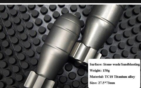 liga de titanio tc18 dedo giroscopio bomba