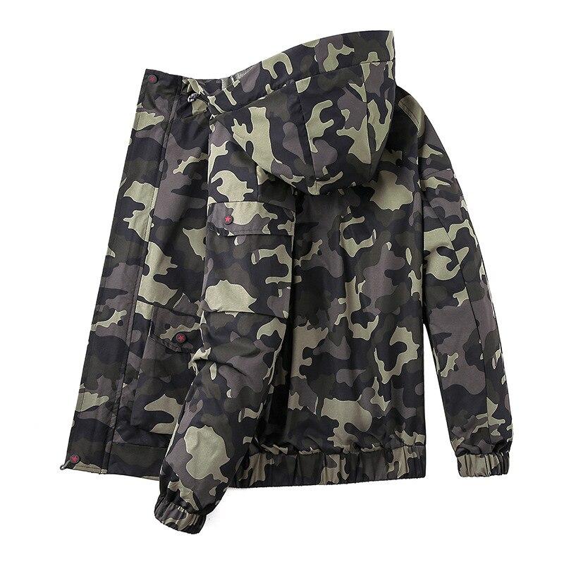 New men plus size 6XL 7XL 8XL Camouflage Men jacket hooded bomber jackets Streetwear Coat Windbreaker mens bomber jackets