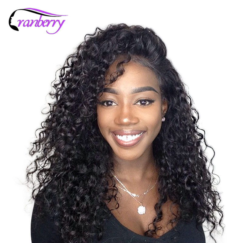 Cranberry Hair 4X4 Closure Wig Lace Front Human Hair Wigs For Black Women Remy Brazilian Hair