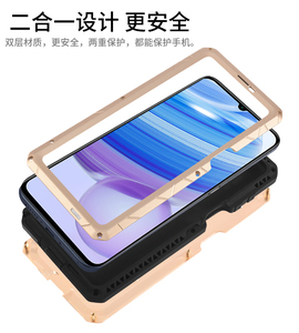 Image 2 - IMATCH Aluminum Metal Silicone Shockproof Case Cover For Xiaomi Redmi Note 9S Pro Max / Note 8 Pro Dirt Shock Proof Cover Case