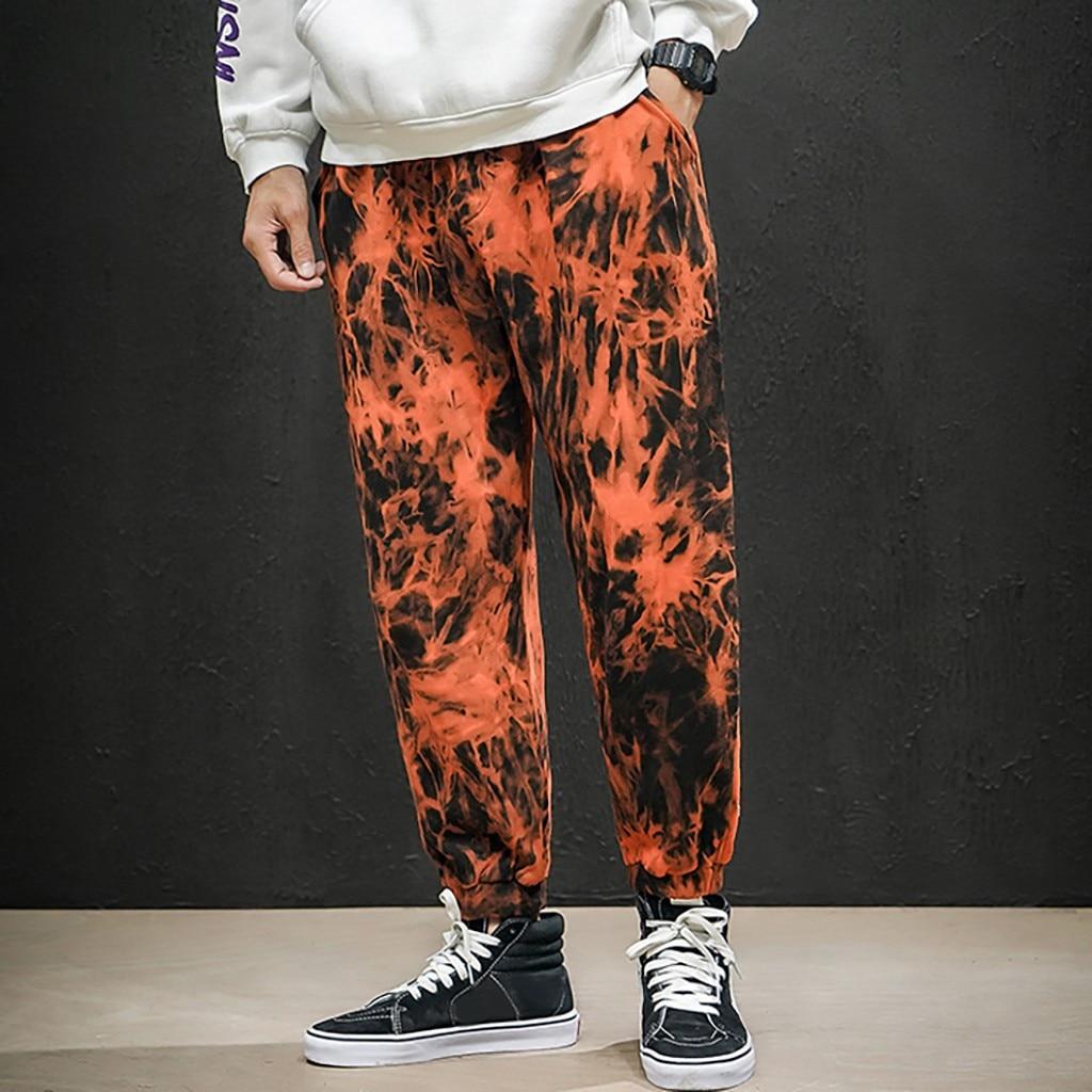 Men Simple Fashionable Tie Dyeing Causal Trousers Cargo Pants Streetwear Joggers Sweatpants Pantalon Homme Hip Hop Plus Size