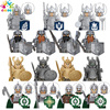 NEW Kids Toys popit Figures Building Blocks Middle Ages Soldiers Army Roman Warrior City Series Children Birthday Toy Wholesale