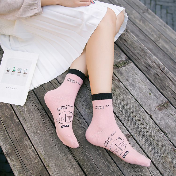 Spring And Autumn High Quality Cotton Tube WOMEN'S Socks Fashion Casual WOMEN'S Socks Breathable Stink Prevention Hosiery Childr