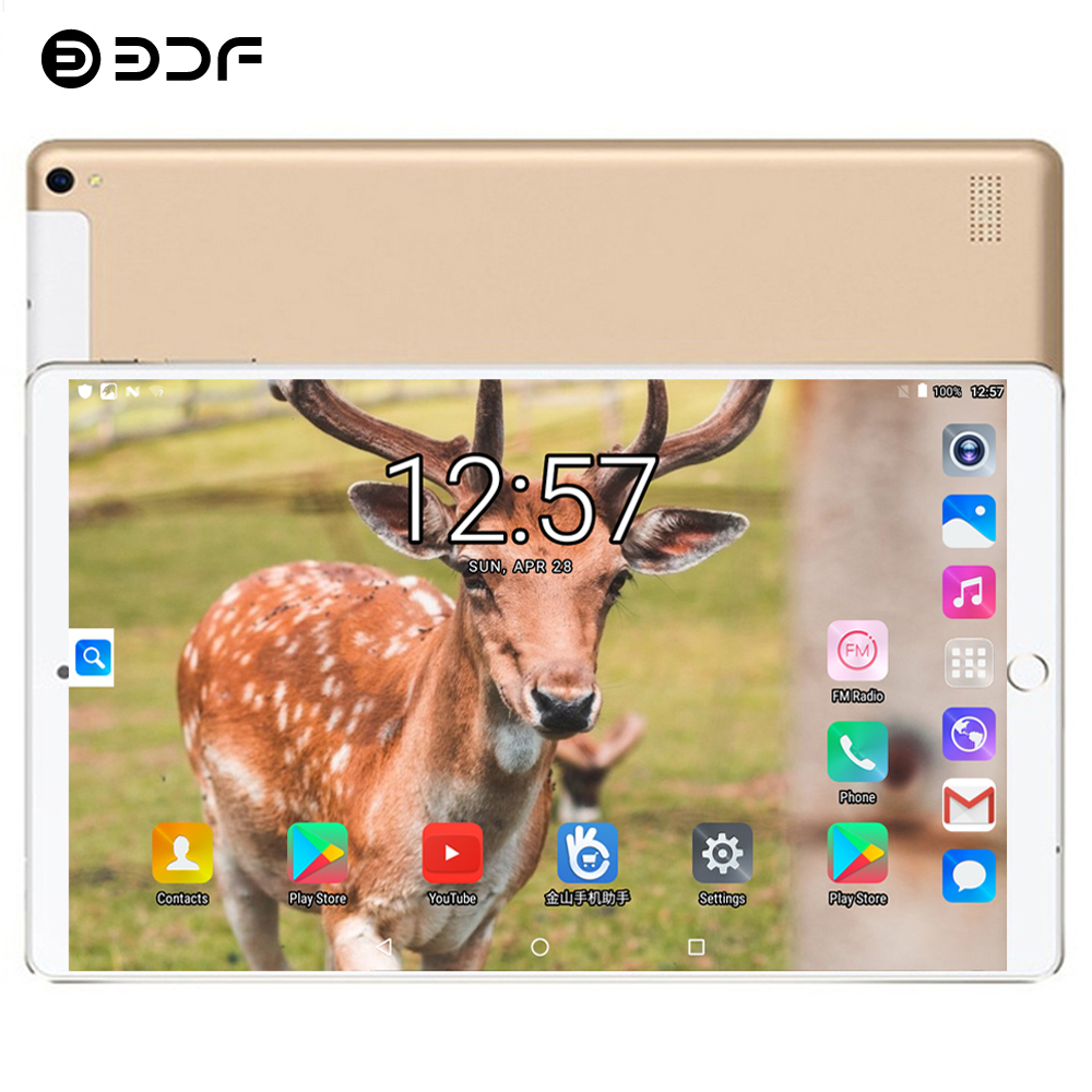 BDF 2019 Original 2.5D Steel Screen 10 Inch Tablet Pc 3G Phone Call Android 7.0 Octa Core 4GB+64GB IPS Dual SIM Card Tablets Pc