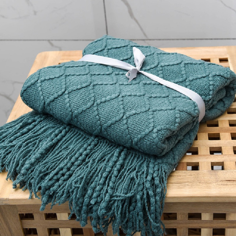 Inya Nordic Knitted Throw Thread Blankets on the Bed Sofa Throw Travel TV Nap Blankets Soft Towel Bed Plaid Tapestry