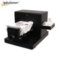 Jetvinner A4 size flatbed printer DTG Printers T shirt Printers for light and dark color T shirt directly