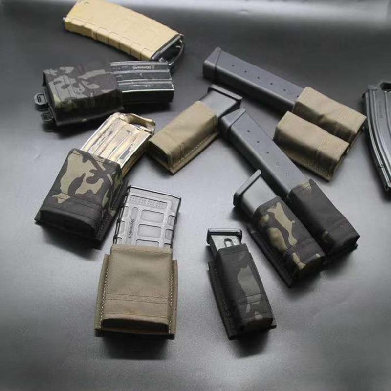 BF KYWI tactique 556 pochette de magazines simple 9mm Double poche Mags pour la chasse en plein air Airsoft équipement 2020