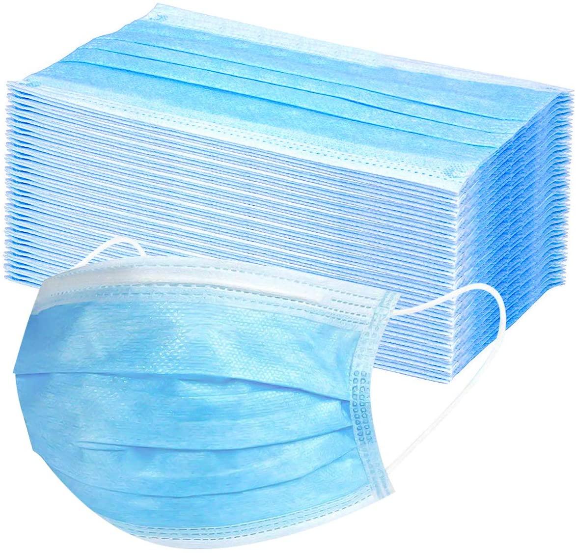 3 στρώσεις Sergical Medical Mask Μη υφασμένο αντι-ιό Ασφάλεια Αναπνεύσιμη μάσκα προσώπου Αντιδιαβρωτική προστασία από τη σκόνη C