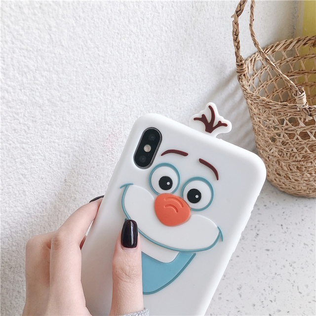 Super Cute Cartoon Frozen Olaf Phone Case for iPhone