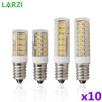 10 unids/lote Mini E14 lámpara LED 3W 4W 5W 7W AC 220V 230V 240V LED Bombilla de maíz SMD2835 haz de 360 ángulo reemplazar la lámpara de halógeno luces