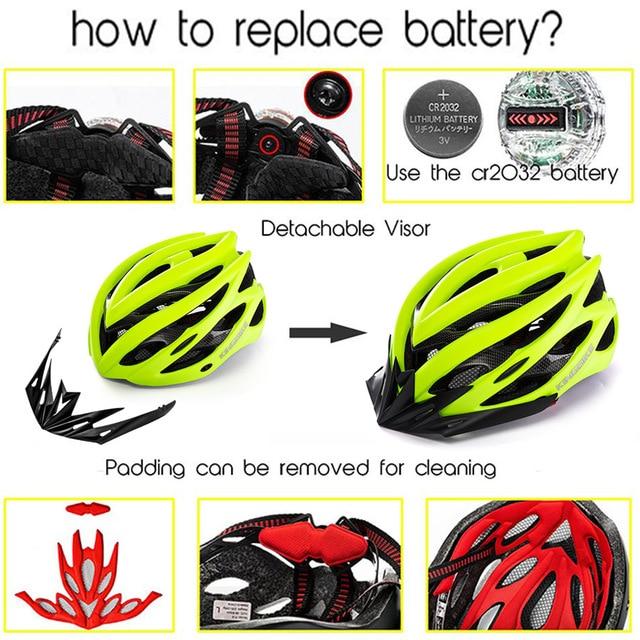 Kingbike 2019 novo design preto capacetes de bicicleta mtb mountain road ciclismo capacete da bicicleta casco ciclismo tamanho L-XL 4