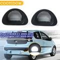 COOYIDOM 1 пара светодиодный светильник для номерного знака автомобиля сигнальный светильник для Citroen C1 2005-2013 Peugeot 107 2005-2014 одиночный светильник
