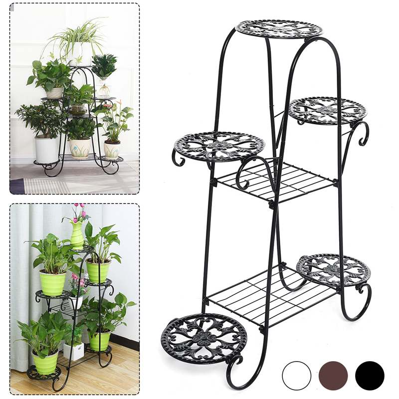 62*22*84cm Living Room Flower Stand Indoor Multi-story Flower Stand Rack Floor-standing Balcony Flower Pot Shelves 7 Layers