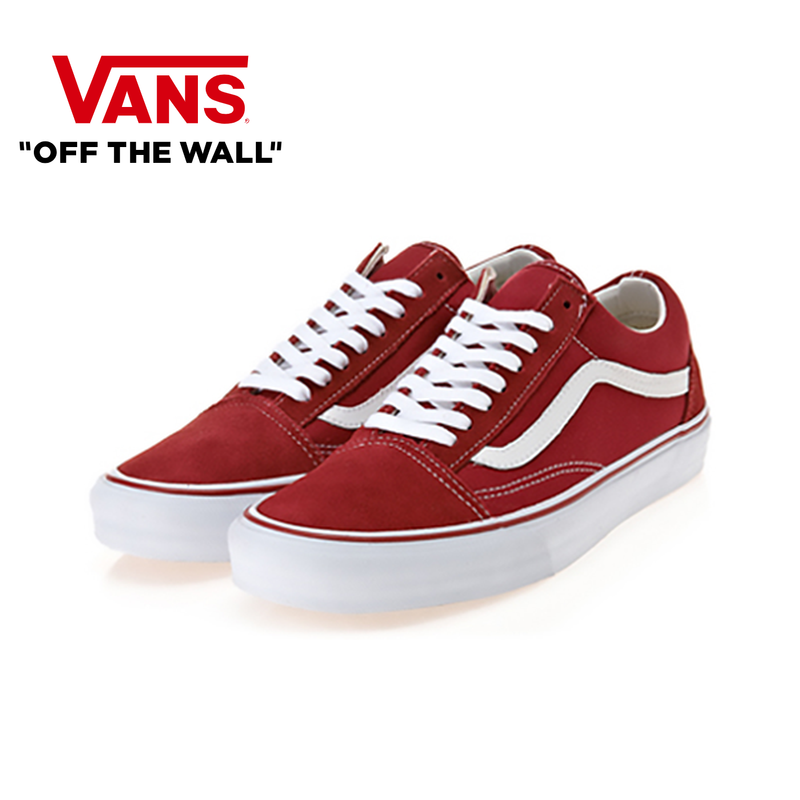 VANS OLD SKOOL Men And Women Shoes Classic Original Authentic Fashion Low Skateboard Shoes Light Comfort 2019New Red VN000VOKDIC