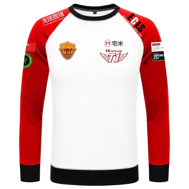 Game LOL World Champion S7 Team SKT T1 Players Uniform Baseball Jacket Faker Men's Top New