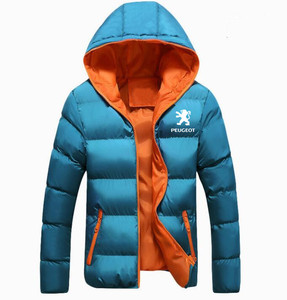 Image 3 - Winter Korean new Printed Down Jacket  Peugeot JACKET thickening coats clothes male casual jackets
