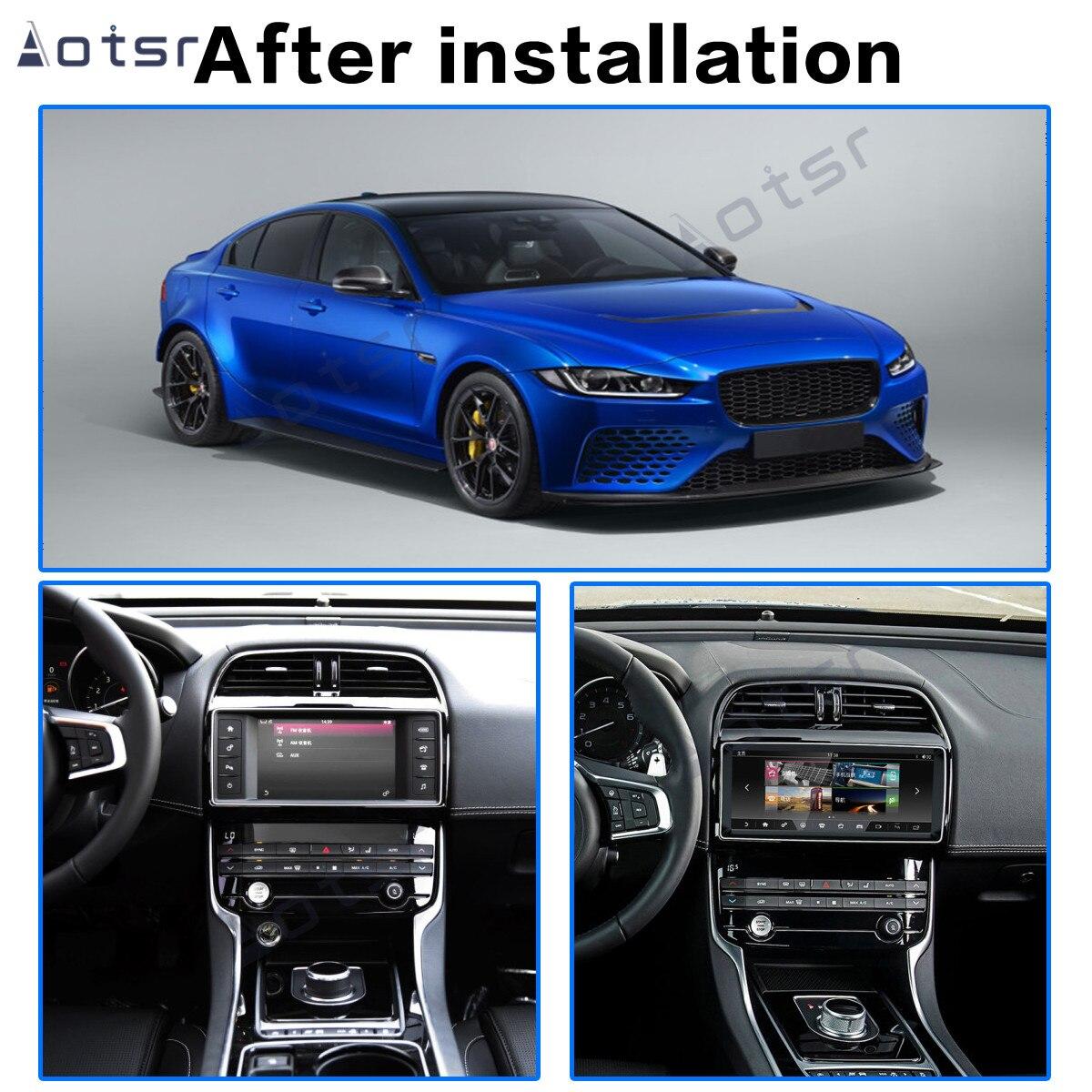 Aotsr Car Multimedia Player Stereo GPS DVD Radio NAVI Navigation Android 9.0 64GB Screen System for Jaguar XE 2016-2018 Carplay