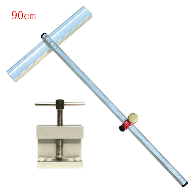 90cm Glass Tile Push Knife Cutting Tools +Glass Tile Opener Ceramic Tile Glass Cutter Roller Cutter With 5 Pcs Knife Head