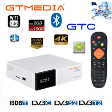 GTMedia GTC אנדרואיד 6.0 טלוויזיה תיבת DVB S2/T2/C Amlogic S905D 2GB 16GB לווין מקלט מפענח לאירופה תמיכה M3U סט Top Box