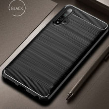 For Honor 20 Case Cover Luxury Soft Carbon Fiber Soft TPU Silicone Case For Huawei Honor 20 Pro Case Honor 20 10i 10 9 Lite Case(China)
