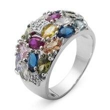 エスメ高級かわいいの結婚指輪ピンク赤ペリドットモルガナイトブルー黄色パープルキュービックジルコニアロジウムメッキ R373 Fleure
