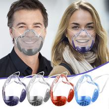 1pc Anti-Oil-Splash Fog Transparent Face Mask Mouth Cover Durable Reusable Face Protector Mask Clear Masks Kitchen Tools