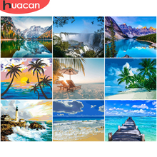 Home-Decor Huacan-Paint By Numbers Diy-Pictures Canvas Sea-Drawing Gift on Scenery Seascape