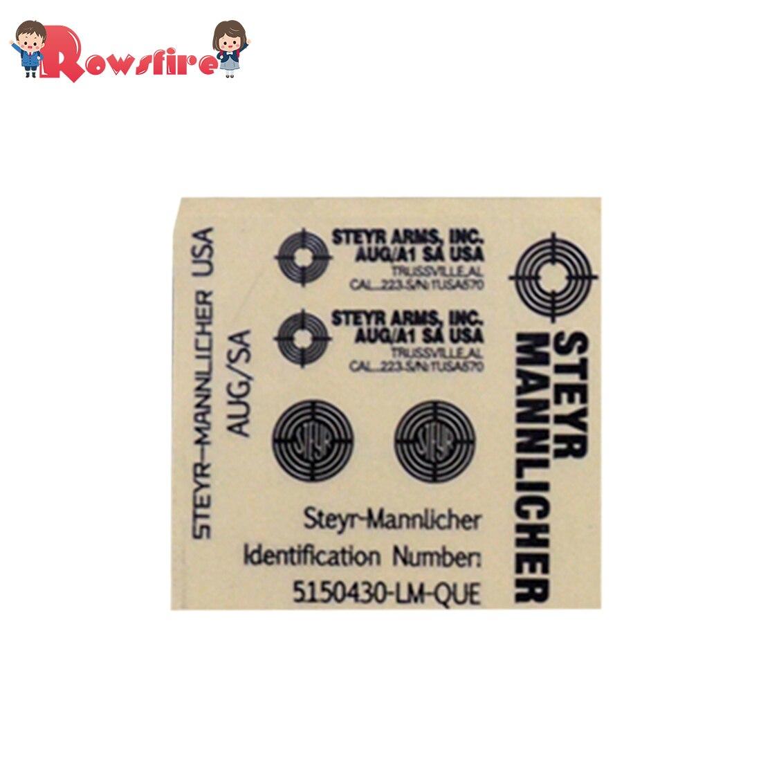 AUG Series Metal Stickers Decorative Decals - Silver/Grey White/Black