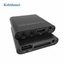 Full HD 1080P HDD Ổ Đĩa U Đa Phương Tiện Truyền Thông Hộp Xe Chơi Phương Tiện Cho Xe Trung Tâm Với Bộ Sạc Xe Hơi hồng Ngoại Bộ Kéo Dài HDMI AV SD/MMC