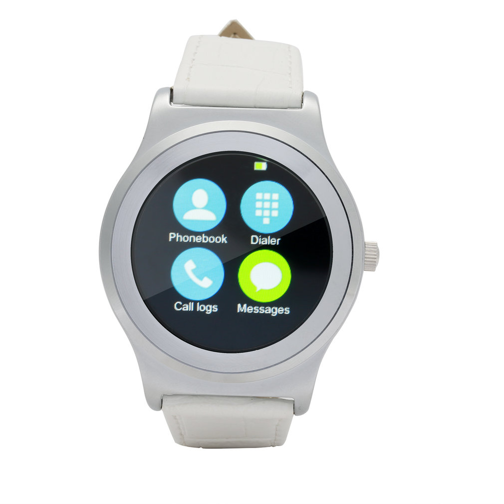Silver 4.0 Smart Watch 1.3 inch Screen Heart Rate Monitor Pedometer Music for iOS Android SmartWatch