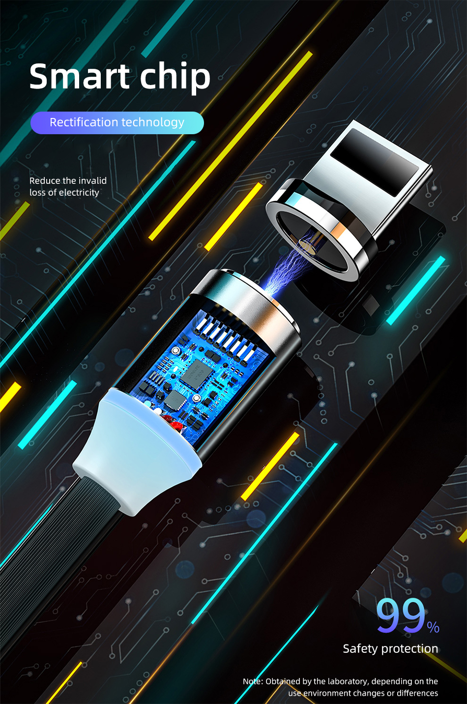 Universal Magnetic Mini Charging Keychain