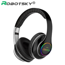 Foldable Wireless Headset LED Light 3D Stereo Hi Fi Gaming Bluetooth Headphone Sports Music Earphone Earbuds 20H Play Time