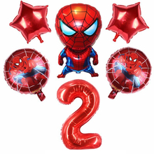 6pcs Spiderman And 32inch Number Foil Balloons Birthday Party Decorations Kids Ballons Babyshower globos Super Hero kids Toys