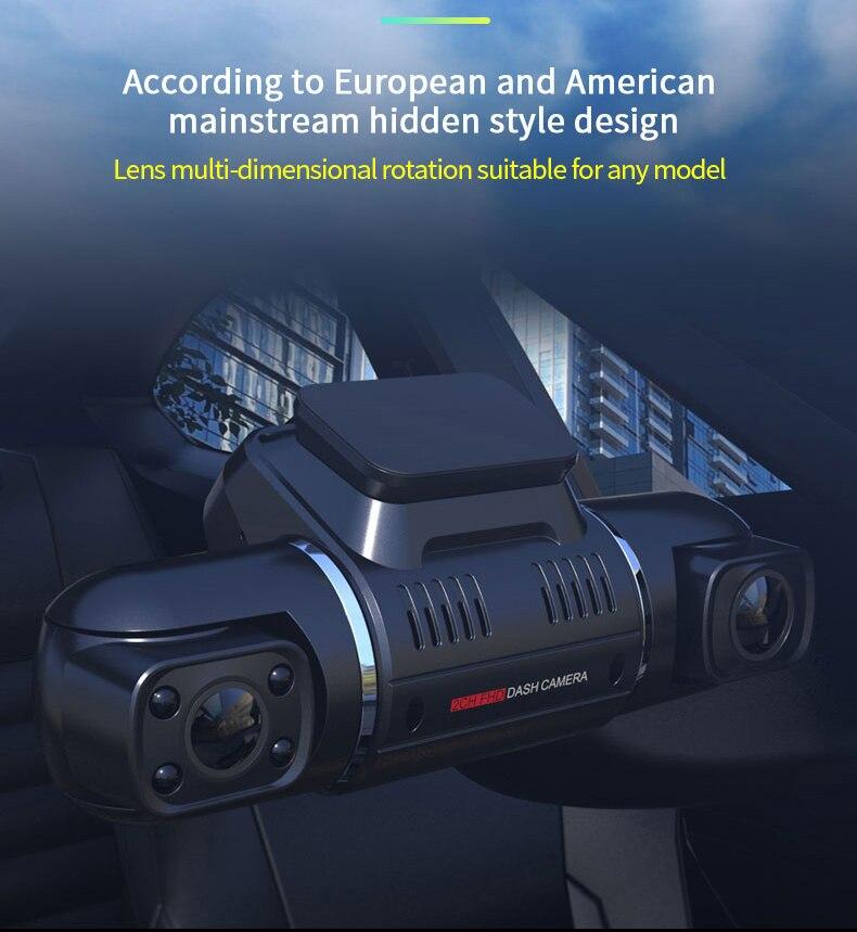 Double lentille 1080P voiture DVR tableau de bord caméra Novatek Sony capteur ADAS GPS enregistreur 2 caméra Dashcam enregistreur vidéo détection de mouvement caméscope