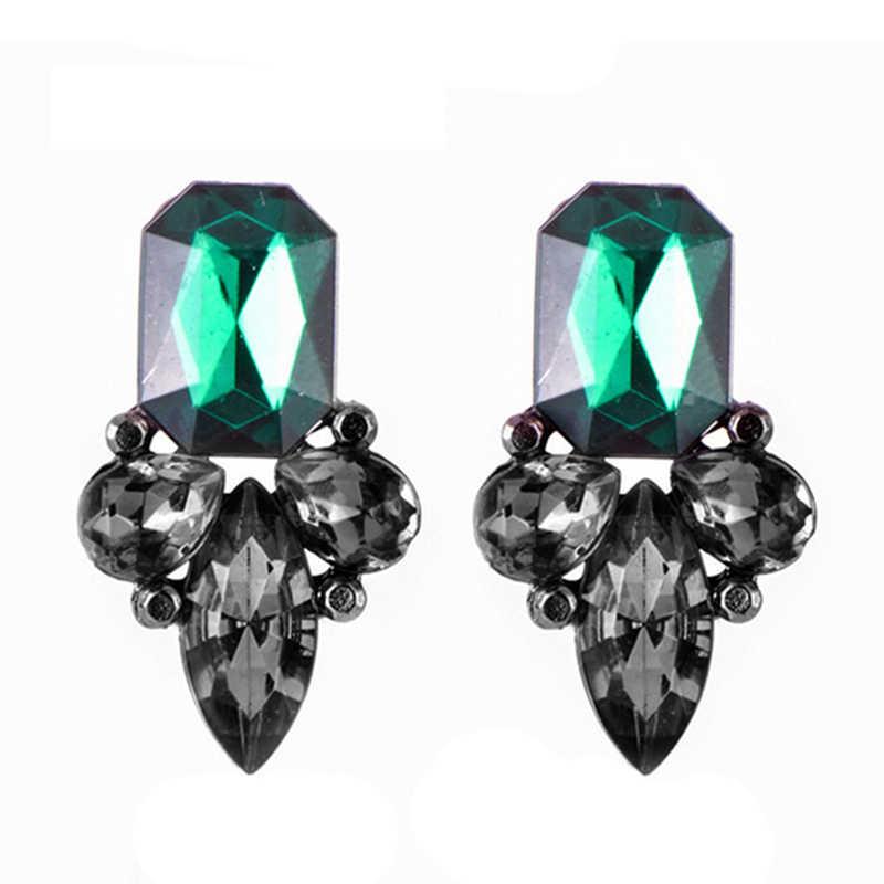 Carter lisa requintado grande cristal pendientes duzzling strass flor brincos para mulheres moda jóias festa presente