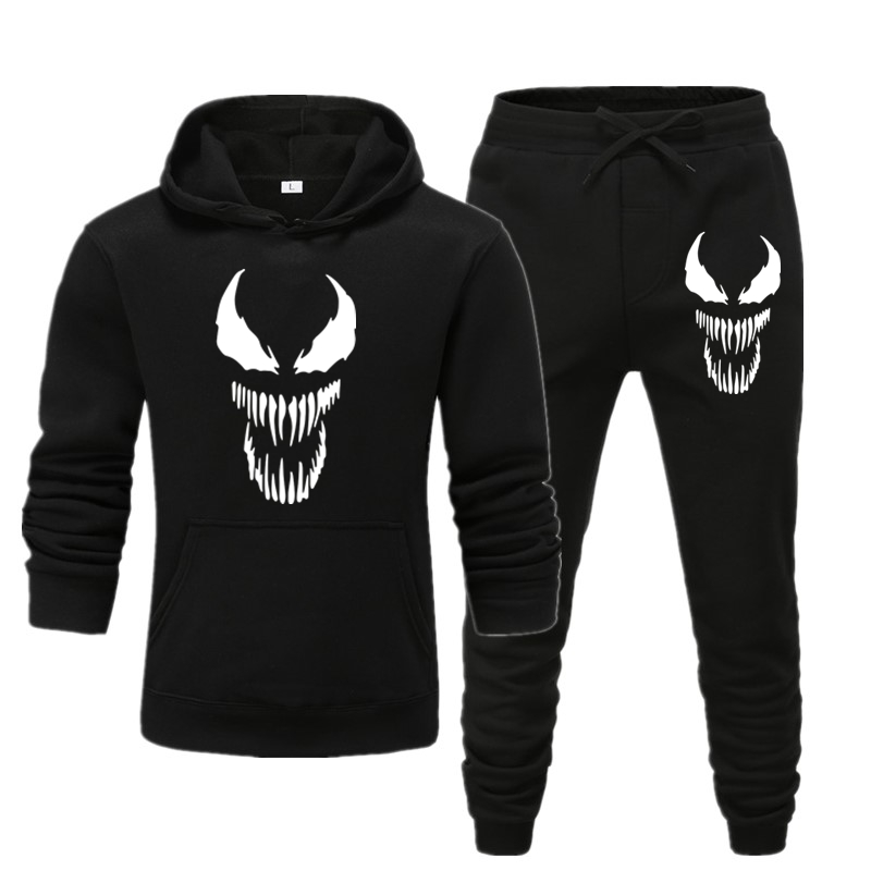 2019 Men's Sets Hoodie and Pants Sweatsuit Male Sportswear Tracksuit Men Set Sporting Suit Track Sweat Print Jackets XWEI