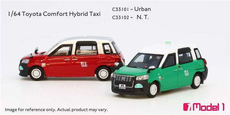 Model1 Toyota Comfort Hybrid Hong Kong Lantau Island Taxi Car Diecast Model