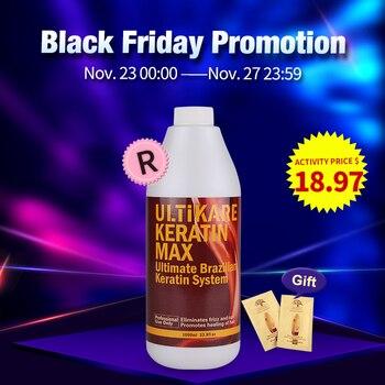 Hot Sale Brazilian Keratin Famous 1000ml 12% Formalin Moisturizing Treatment For Hair Care Straighten Resistant Frizzy Hair недорого