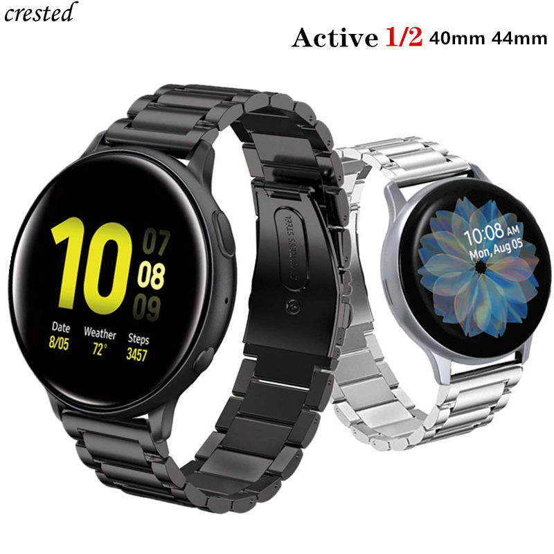 Stainless Steel Band For Samsung Galaxy Watch Active 2/46mm/42mm Strap Gear S3 Frontier Band Huawei Watch GT 2 Bracelet Active2