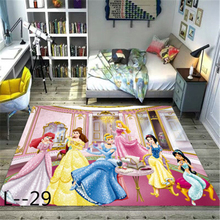 Cartoon Princess  Printing Doormat Flannel Home Decoration Non-slip Floor Mat Carpet  Tapis De Bain Felpudo Kids Rug  Playmat