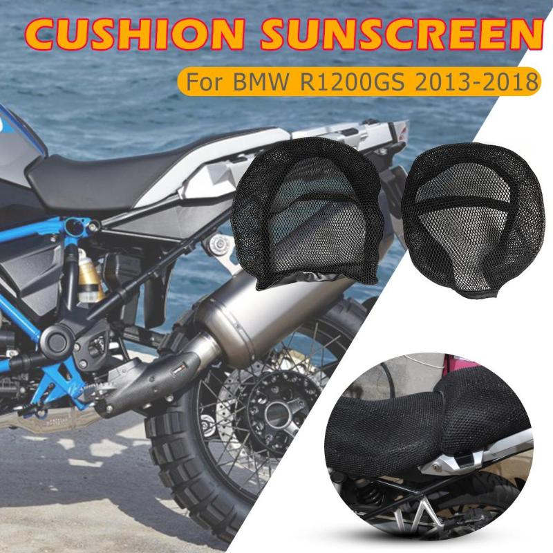 Motorcycle Seat Cover Breathable Mesh Protector Cushion Black For BMW R1200GS