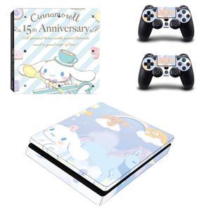 Image 2 - Cinnamoroll Lorbeer Hund PS4 Slim Aufkleber Play station 4 Haut Aufkleber Aufkleber Für PlayStation 4 PS4 Slim Konsole & Controller haut