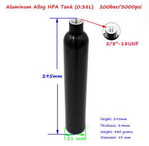 Image 5 - NEW PCP Paintball 0.38L/23CI Cylinder 3000PSI HPA Tanks 50MM Slim Air Bottle 5/8 18UNF