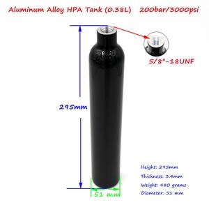 Image 5 - 新しい PCP ペイントボール 0.38L/23CI シリンダー 3000PSI HPA タンク 50 ミリメートルスリム空気ボトル 5/8 18UNF