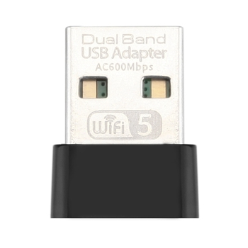 AC600Mbps USB WiFi Adapter Wireless Network Card Wifi Receiver 2.4/5.8G Dual Band Network LAN Card for PC Laptop