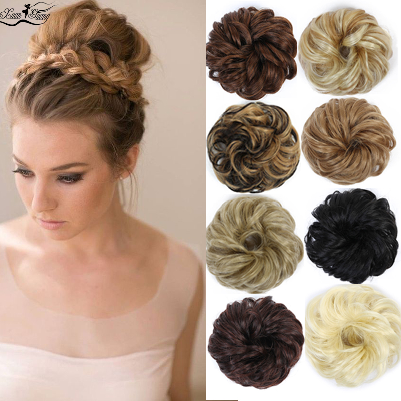 DIANQI Fashionable Woman's Curly Elastic Elastic Wavy Synthetic Bread Hair Is Worth Having High Temperature Wire Chignon