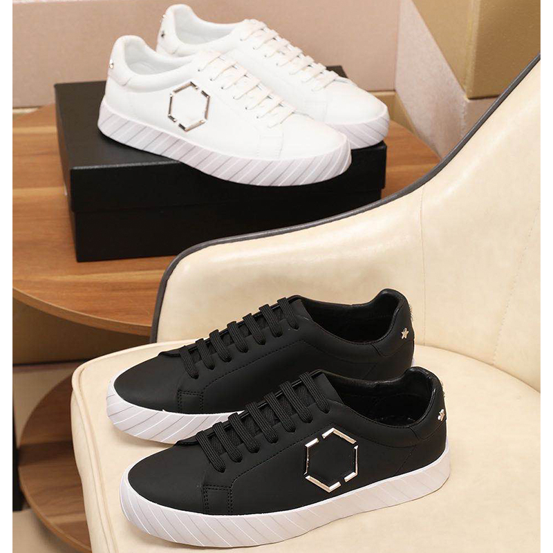 Starbags PP Men's Shoes Italian Skull Logo Latest Casual White Men's Shoes Genuine Leather Fashion All-around Counter Quality