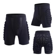 1PC Black Unisex Breathable Shock Resistance Motorcycle Snowboard Protection Polyester Ski Protective Hip Butt Padded Shorts Pad