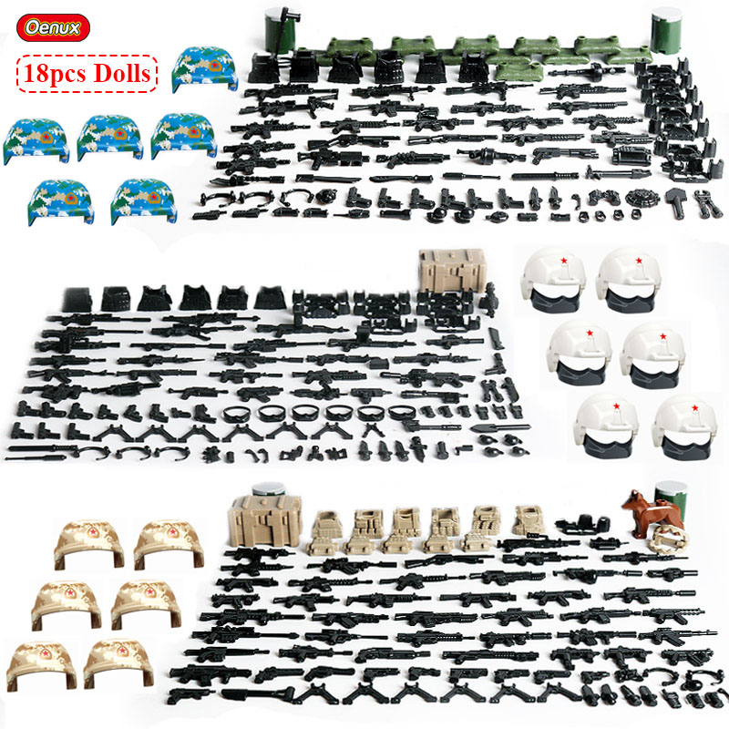 Air Force Navy Army Soldiers MMilitary Building Block SWAT Police Toys Kids Gift